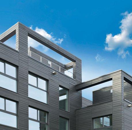 Neuinterpretation der Fertigbauweise als innovatives Stadthaus