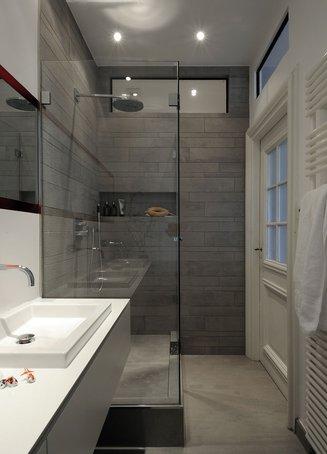 Pin Kleines Bad Ideen Dusche Duschvorhang Muster Badgestaltung Kleines ...