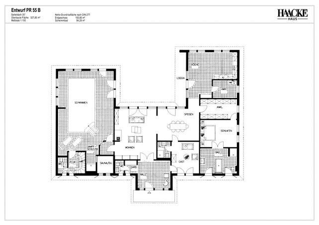 Grundriss bungalow u form ~ Ihr Traumhaus Ideen