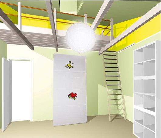 Kinderzimmer-Einrichtung, Ansatz II: Raum im Raum