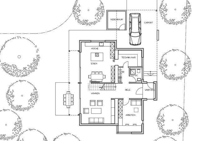 Modernes einfamilienhaus cubus von fischerhaus haus bau