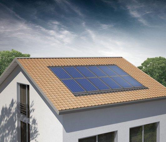 Polykristalline Photovoltaik-Module; Foto: Solon