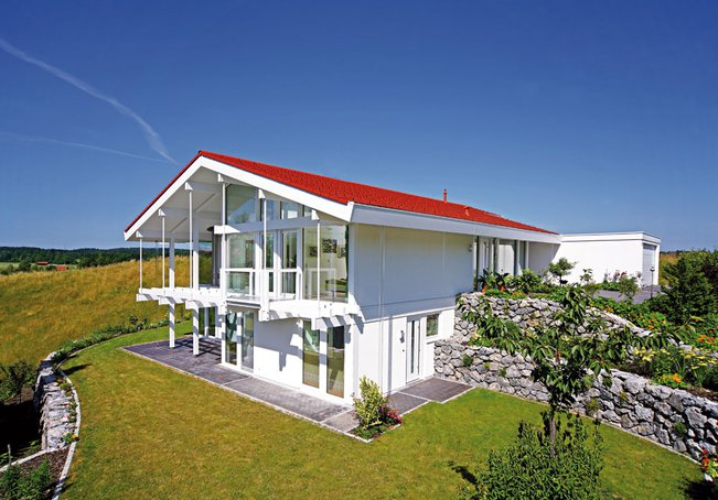 Holzfachwerkhaus als Bungalow von DAVINCI Haus