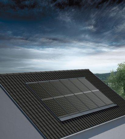 Monokristalline Photovoltaik-Module; Foto: Solon