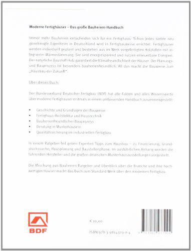 Moderne Fergihäuser das Bauherren Handbuch - Rückseite