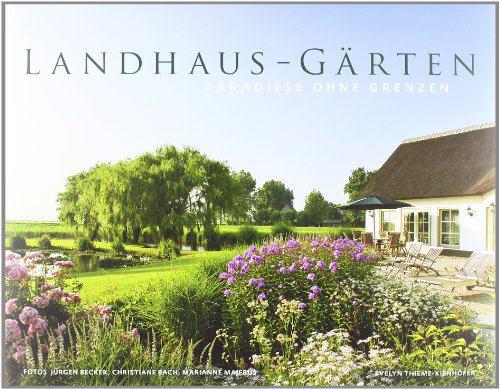 Buchmotiv mit Landhaus Garten
