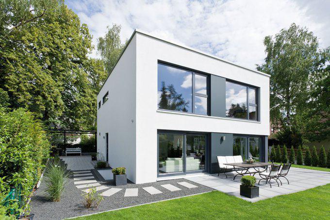 klassisch und modern das haus als quader von gussek. Black Bedroom Furniture Sets. Home Design Ideas