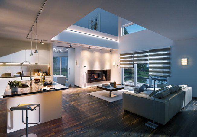 Stilvolle Raumgestaltung Durch Lichtdesign Im Wohnzimmer
