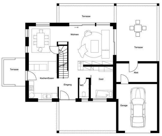 sch ner wohnen haus von schw rerhaus. Black Bedroom Furniture Sets. Home Design Ideas