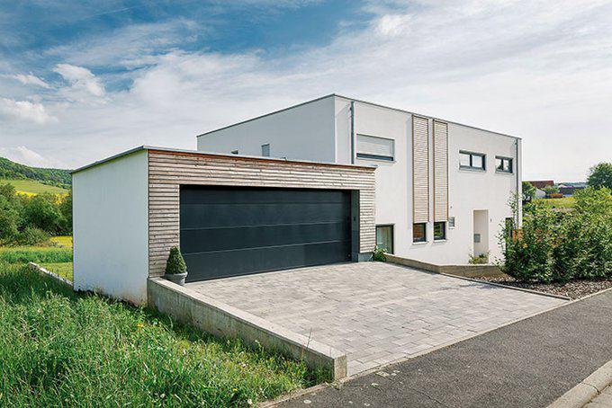 Entwurf flachdach 185 von luxhaus for Haus modern flachdach