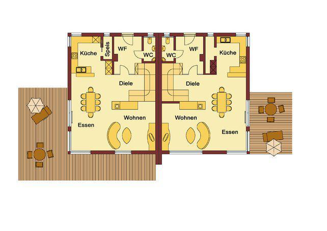 wolf haus modernes doppelhaus hattingen. Black Bedroom Furniture Sets. Home Design Ideas