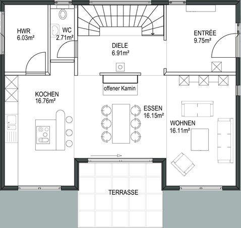 grundriss stadtvilla 170 qm m bel und heimat design inspiration. Black Bedroom Furniture Sets. Home Design Ideas