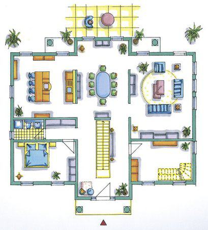 house-1554-grundriss-erdgeschoss-stadtvilla-fm98-134-von-okal-mit-mediterranen-anleihen-1