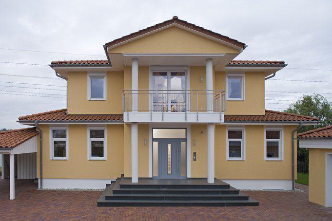 fassadenfarbe mediterran luxuri se stadtvilla fm 98 134 okal zuhause3 de. Black Bedroom Furniture Sets. Home Design Ideas