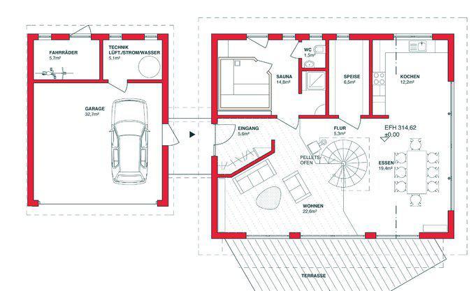 Passivhaus grundriss  Passivhaus mit Holzfassade - ZimmerMeisterHaus | zuhause3.de