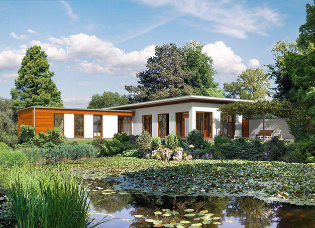 bungalow im bauhaus stil von haacke haus. Black Bedroom Furniture Sets. Home Design Ideas