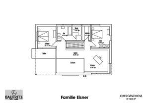 Grundriss Obergeschoss Haus Eisner