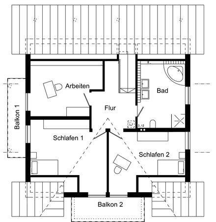 Entwurf akermann von schw rerhaus for Hausplan modern