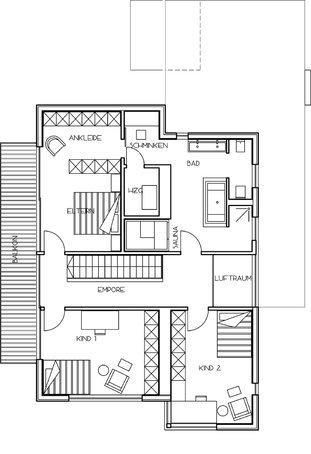 Moderne architektur häuser grundriss  Modernes Einfamilienhaus