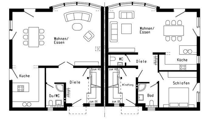 House 1730 Schwoerer Haus Doppelhaushaelfte Waermedirekthaus Plan 420