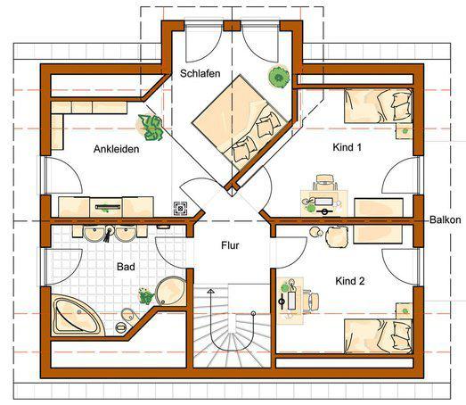 Einfamilienhaus grundriss 3 kinderzimmer  Klassisches Einfamilienhaus