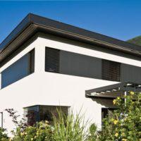 moderner cubus mit flachdach von wolf haus. Black Bedroom Furniture Sets. Home Design Ideas