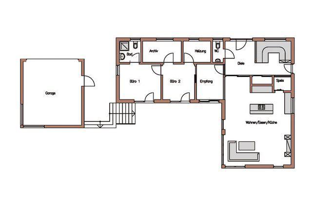 Modernes einfamilienhaus mit pool miraglia von wolf for Modernes einfamilienhaus grundriss