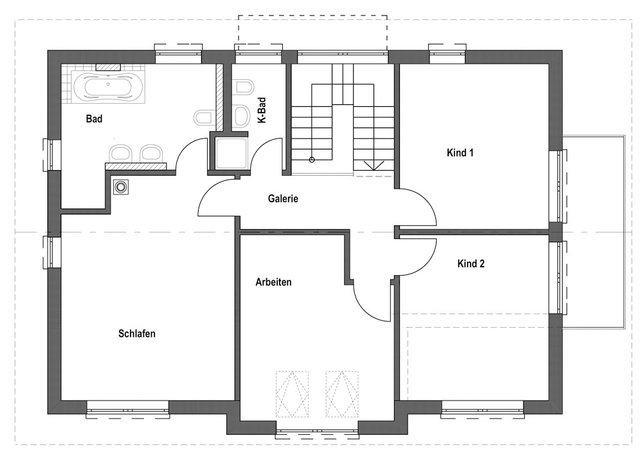 Entwurf homestory 032 von lehner haus for Grundriss modernes einfamilienhaus