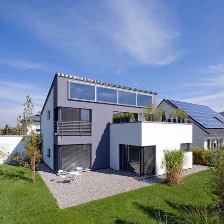 Entwurf r sler von kitzlingerhaus for Haus bauen modern pultdach