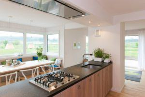 Kücheninsel im lebendigen Haus