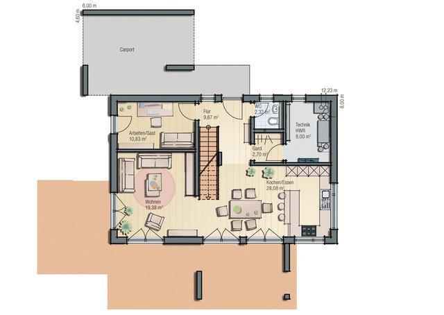 plusenergiehaus mannheim j 159 von haas fertigbau. Black Bedroom Furniture Sets. Home Design Ideas