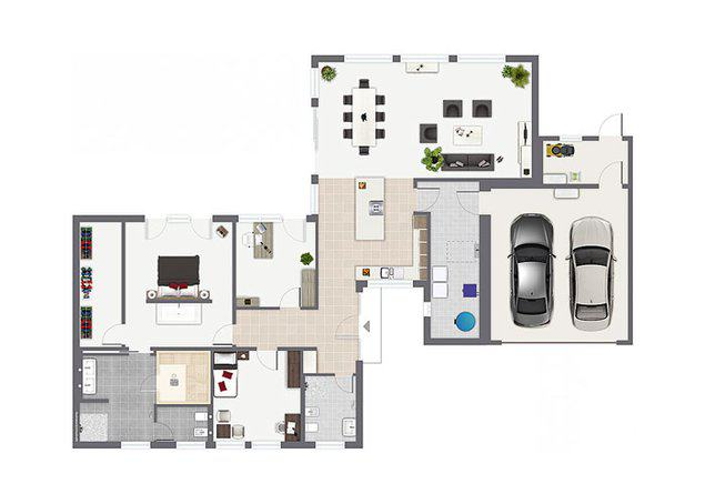 Grundriss Bungalow Algarve von Gussek Haus