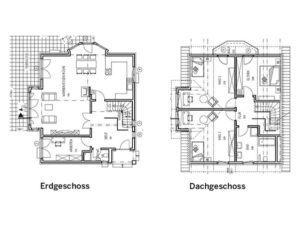 Grundrisse Entwurf Lindenstraße von Gussek Haus