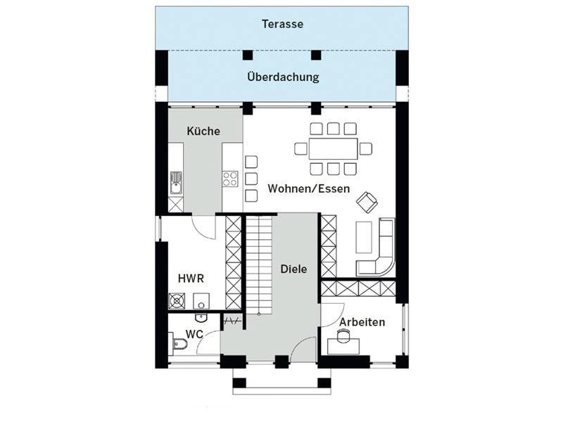 Grundriss Erdgeschoss Arge Cubus 30KL