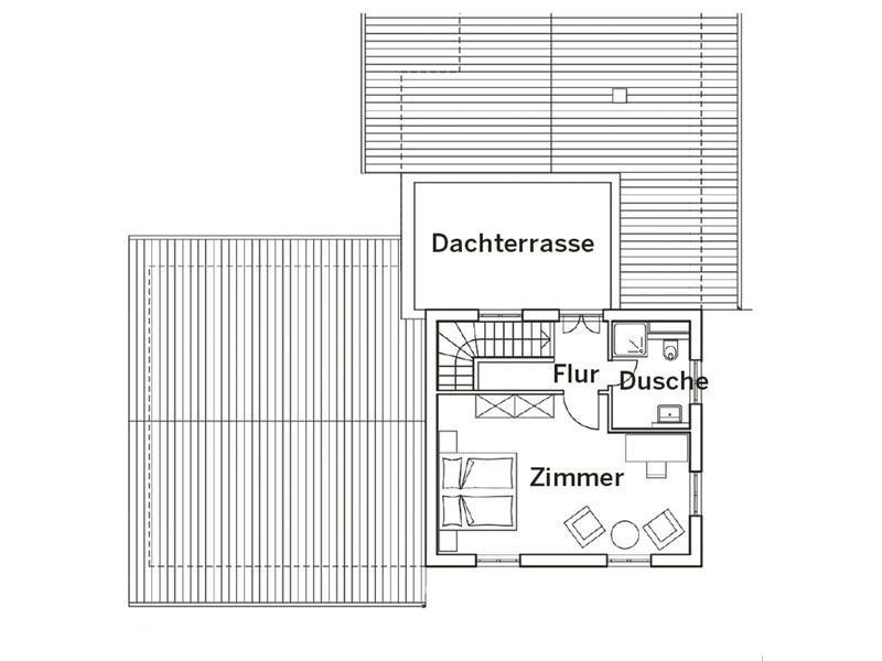 Grundriss Obergeschoss Haus Pohl von Baumeister Haus