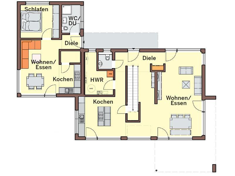 Grundriss Erdgeschoss Haus Vitalis von Buedenbender