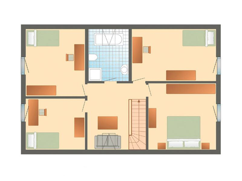 Grundriss Dachgeschoss Haus Glücksburg von Danhaus