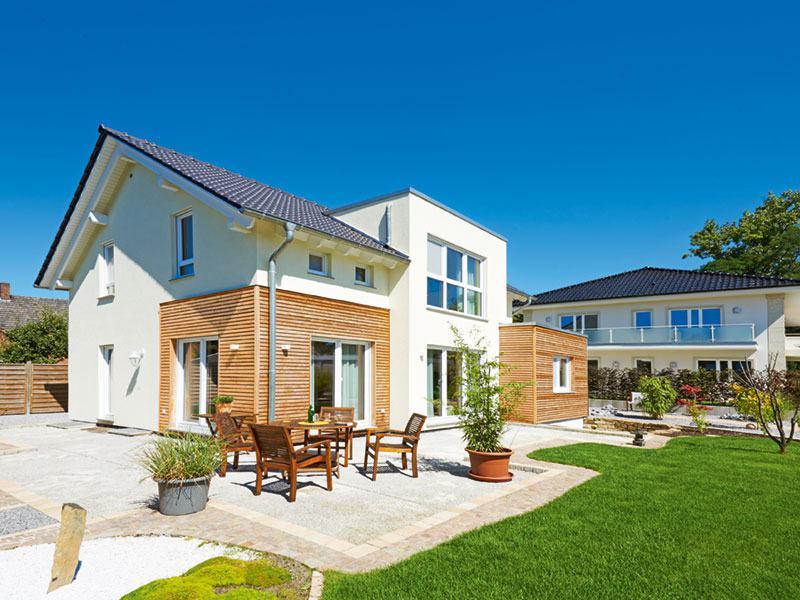 Entwurf Solaris von Fingerhut Haus Aussen Terrasse