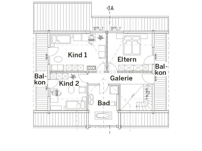Grundriss Dachgeschoss Haus Mittelfranken von Fullwood
