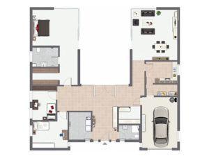 Grundriss Haus Piemont von Gussek Haus