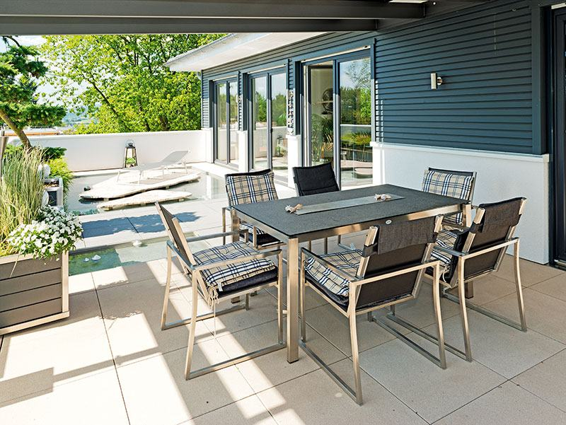 Terrasse Effizienzhaus 55 von Haacke Haus