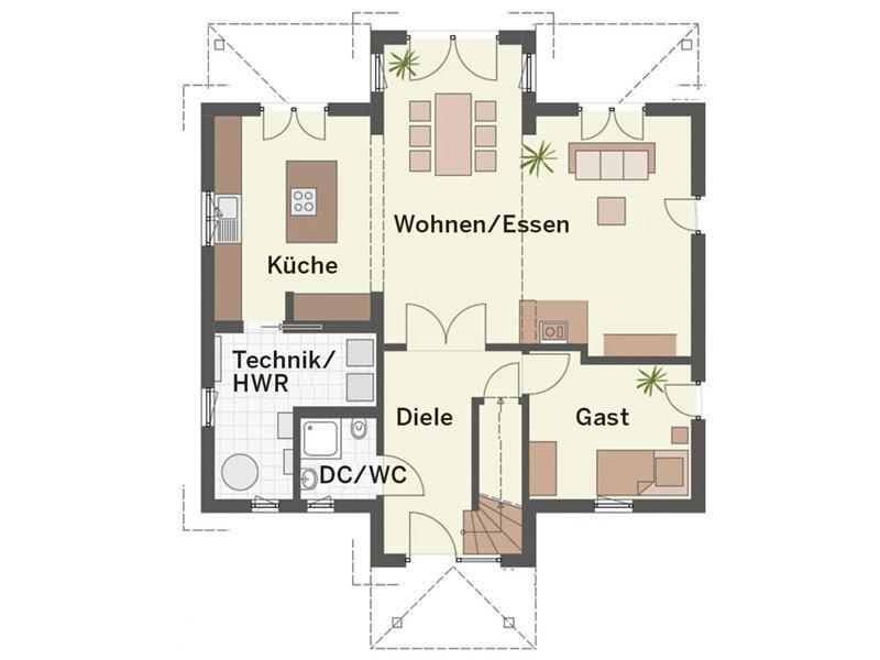 Grundriss Erdgeschoss Haus Weingarten von Keitel-Haus