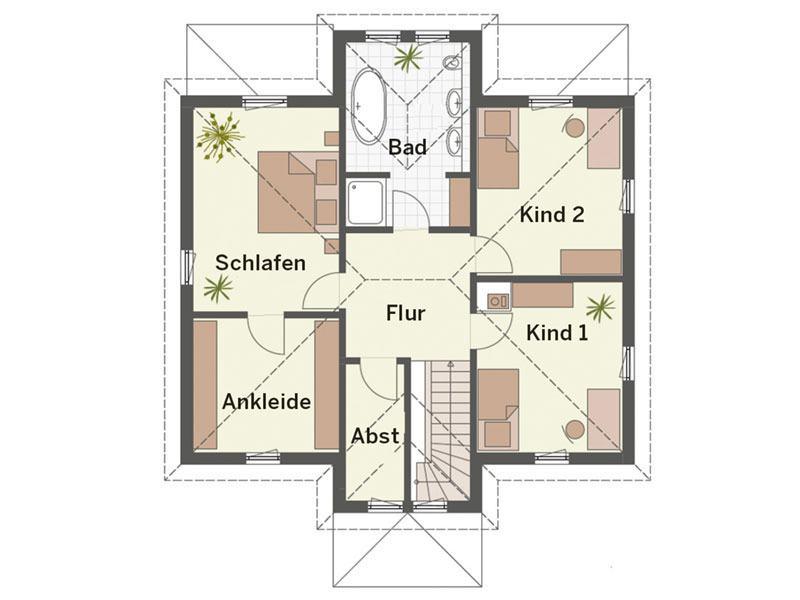 Grundriss Obergeschoss Haus Weingarten von Keitel-Haus