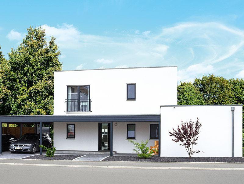 Frontnansicht Haus Homestory 314 von Lehner-Haus
