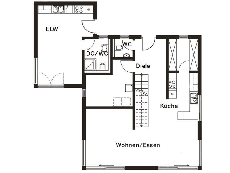Grundriss Erdgeschoss Haus Homestory 314 von Lehner-Haus