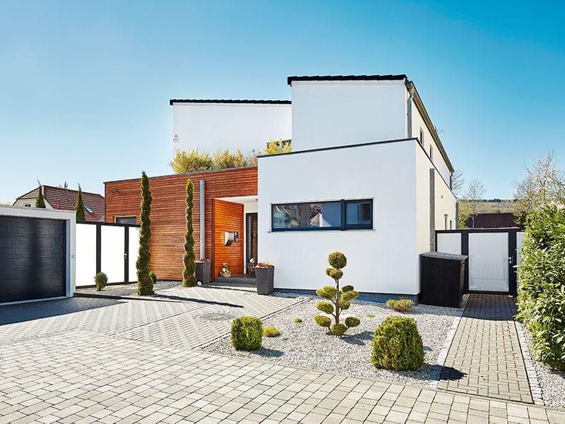 entwurf pultdach klassik 197 von luxhaus. Black Bedroom Furniture Sets. Home Design Ideas