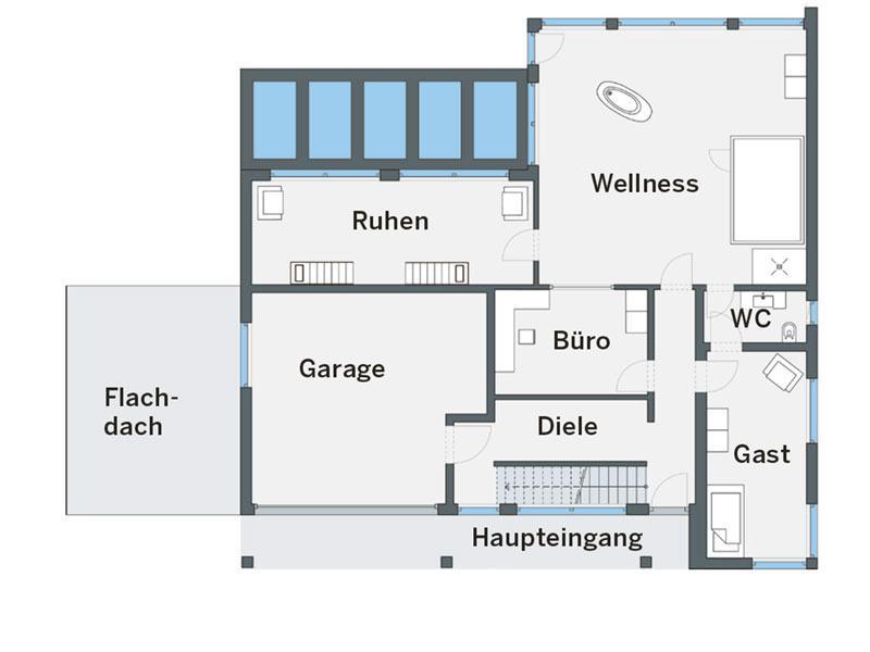 Erdgeschoss Haus Mercanti von Weberhaus