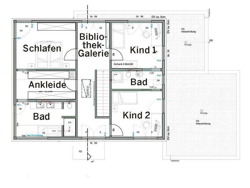 Obergeschoss Haus Pfrang