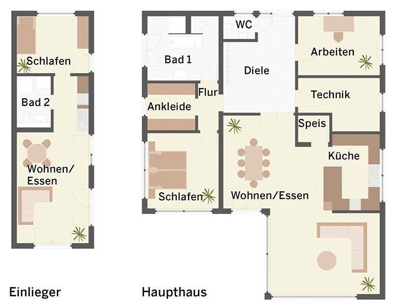 Grundriss Bungalow Bader von Keitel-Haus