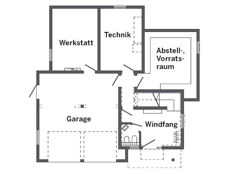 Grundris Untergeschoss Haus Schmid von SchwörerHaus